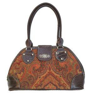 Rosetti Tapestry Half Moon Doctor Purse Bowler Bag